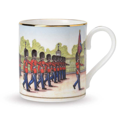 Fine English Bone China | Changing the Guard Mug | Halcyon Days | Made in England-Mug-Sterling-and-Burke