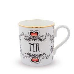 Fine English Bone China | Mr and Mrs Wedding Mug Set | Halcyon Days | Made in England-Mug-Sterling-and-Burke