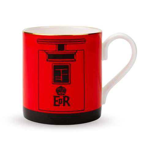 Fine English Bone China | London Post Box Mug | Halcyon Days | Made in England