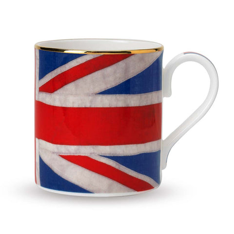 Fine English Bone China | Classic Union Jack Mug | Halcyon Days | Made in England