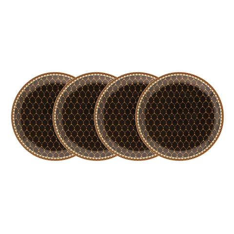 Halcyon Days Antler Trellis Coasters in Black, Set of 4
