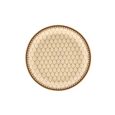 Halcyon Days Antler Trellis Coasters in Ivory, Set of 4-Bone China-Sterling-and-Burke