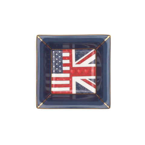 A Very Special Relationship Collection | English Fine Bone China | Trinket Tray | Very Special Relationship | Square | Halcyon Days | Made in England-Bone China-Sterling-and-Burke