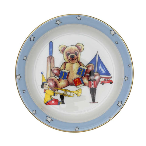 "Fine English Bone China | Baby Boy 3-Piece Set | ""Toys from the Nursery"" Collection 
