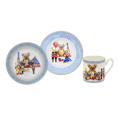 "Halcyon Days ""Toys from the Nursery"" Baby Boy 3-Piece Dining Set"