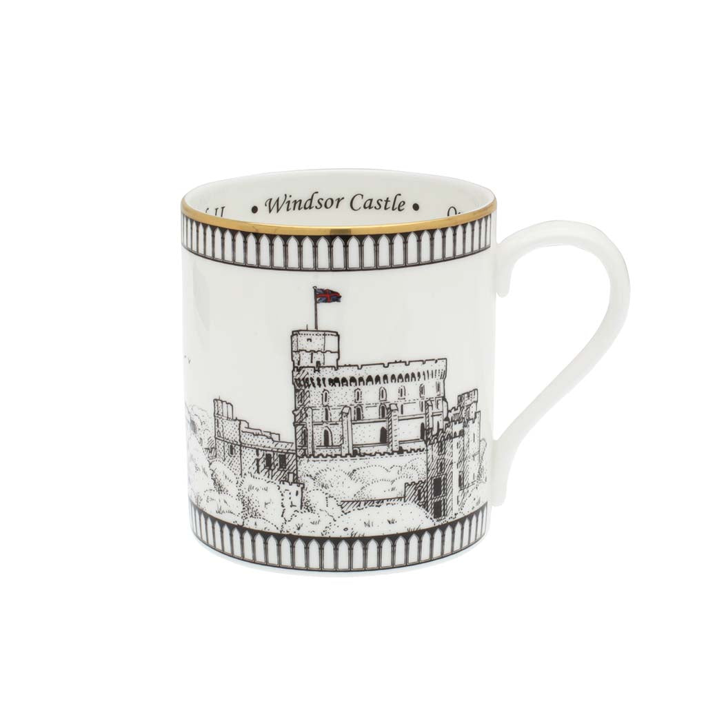 Fine English Bone China | Windsor Castle Mug | Halcyon Days | Made in England-Mug-Sterling-and-Burke