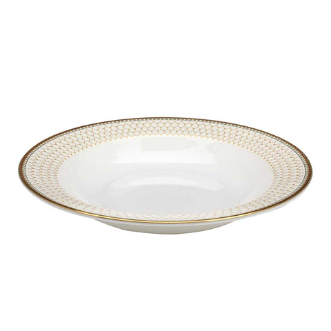 "Halcyon Days Antler Trellis 9"" Soup Dish in Ivory-Bone China-Sterling-and-Burke"