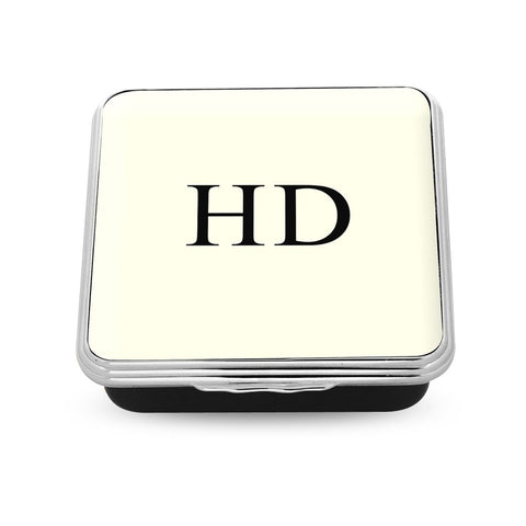 Halcyon Days Monogrammed Square Enamel Box
