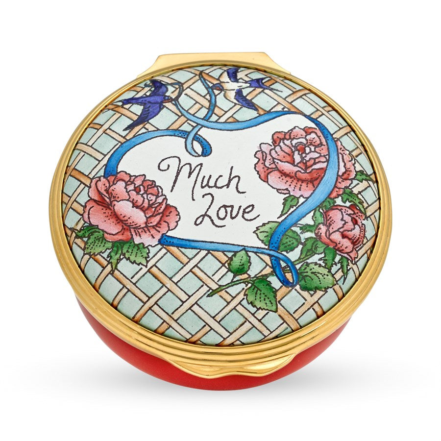Halcyon Days Much Love Enamel Box-Enamel Box-Sterling-and-Burke