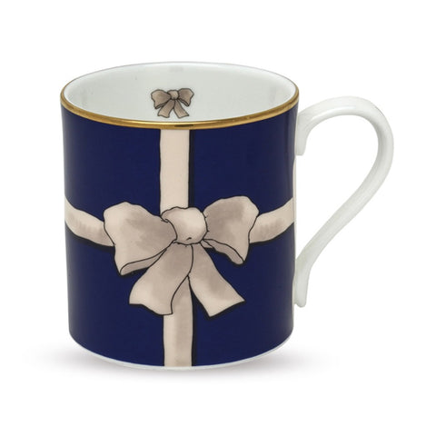 Fine English Bone China | Ribbon Mug | Blue | Halcyon Days | Made in England-Mug-Sterling-and-Burke
