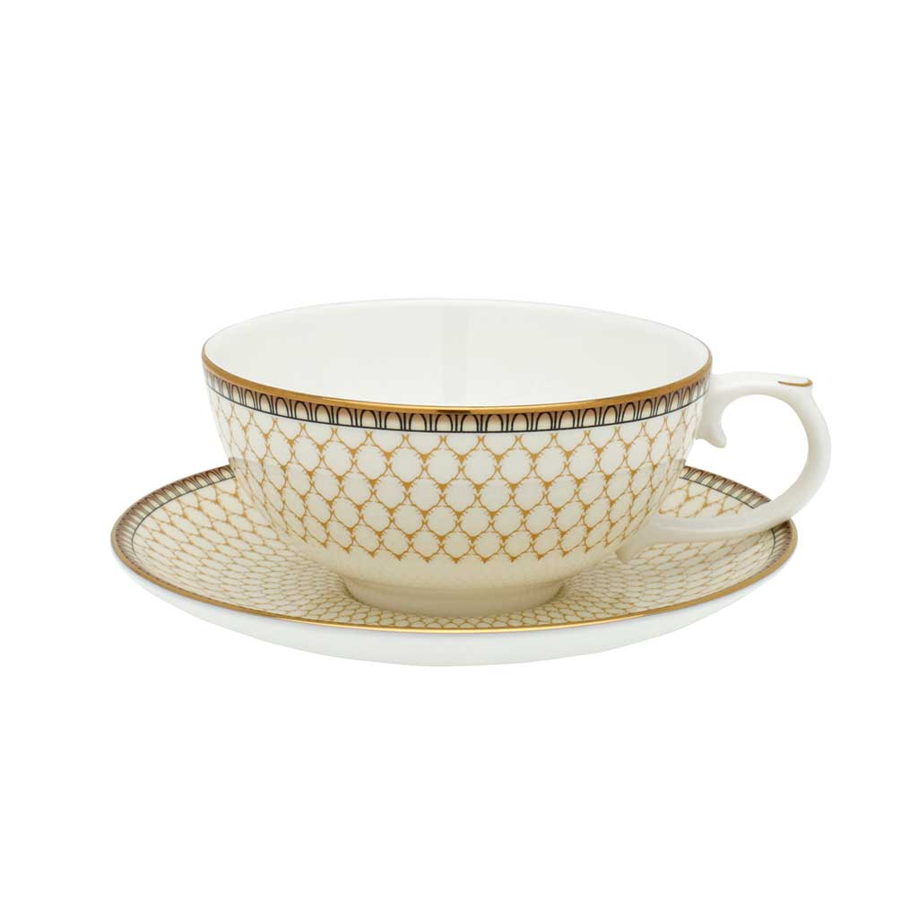 Fine English Bone China | Tea for One | Antler Trellis | Ivory | Halcyon  Days | Made in England