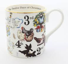Halcyon Days The Twelve Days of Christmas Mug-Bone China-Sterling-and-Burke