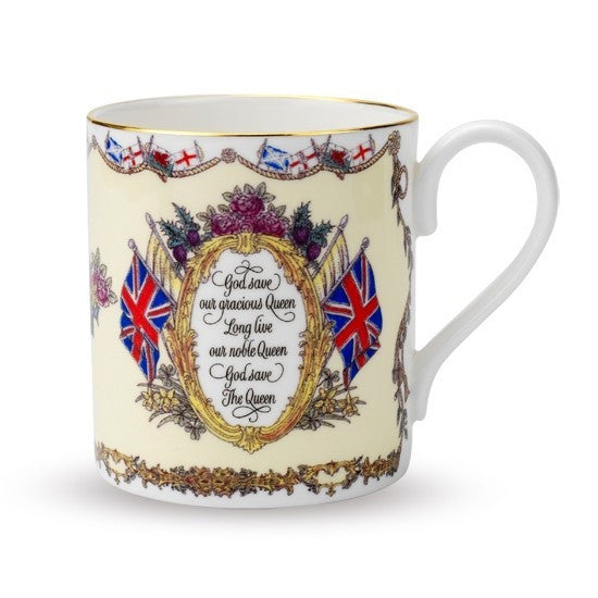 Vivat Regina Cream Mug-Mug-Sterling-and-Burke