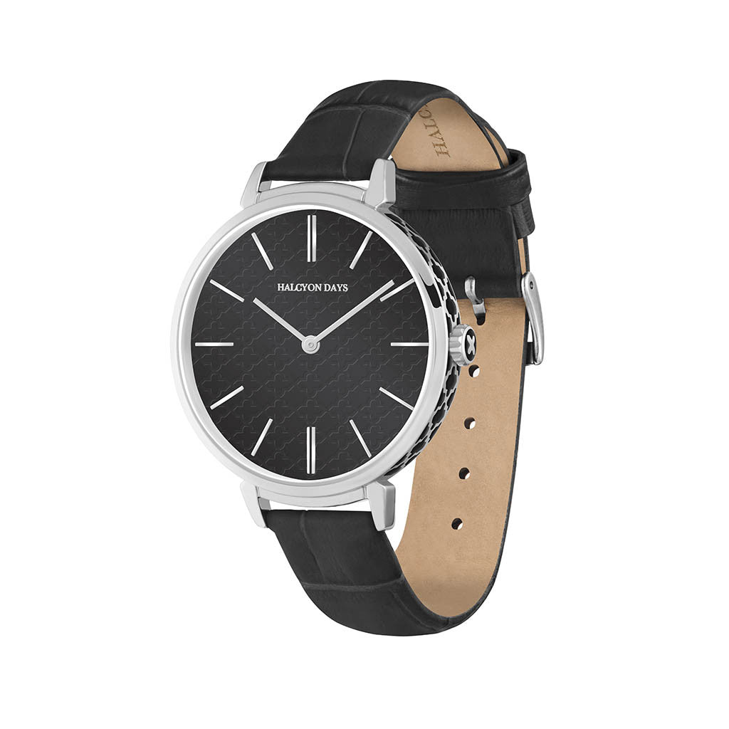 Agama Sport Watch | Black and Palladium | Halcyon Days | Made in England-Ladies Watch-Sterling-and-Burke