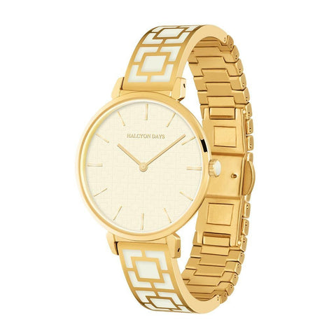 Maya Watch, Cream and Gold