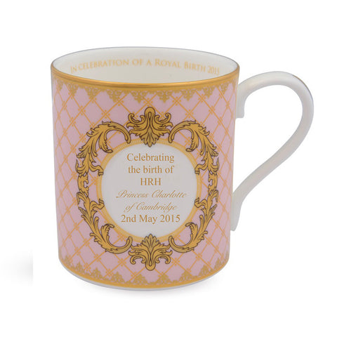 Fine Bone English China | Celebration of the Royal Birth 2015 Mug | Halcyon Days | Made in England-Mug-Sterling-and-Burke