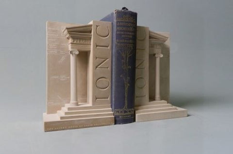 Iconic Order Bookends Sculpture Set | Custom Iconic Order Plaster Model | Extraordinary Quality and Detail | Made in England | Timothy Richards