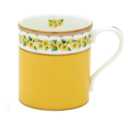 Halcyon Days Shell Garden Floral Primula Mug in Yellow