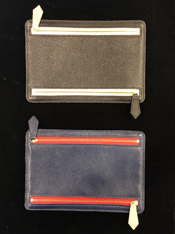 Four Pocket Travel Wallet | Pebbled Leather | Smooth English Bridle Leather | Made in England | Sterling and Burke
