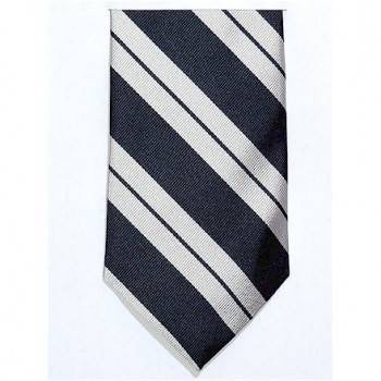 17th/21st Lancers Silk Tie, Silver and Navy