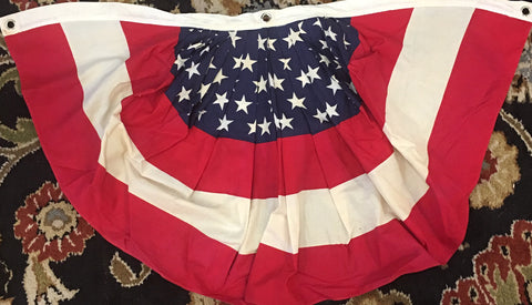 "Decorative American Flag Bunting | Vintage Bunting | 36"" x 20"""