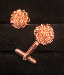 Curly Knot Cufflinks | Gold, Rose Gold, and Silver | Made in USA | Sterling and Burke-Cufflinks-Sterling-and-Burke