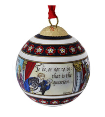 Halcyon Days Shakespeare Christmas Bauble-Ornament-Sterling-and-Burke