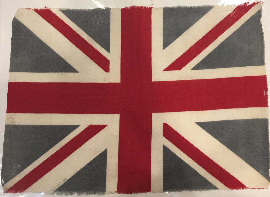 British Made, 25 by 14 Inches-Vintage Flag-Sterling-and-Burke