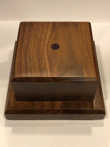 Wooden Base | 4.5 by 4.5 by 2.5 Inches-Corporate Gifts-Sterling-and-Burke