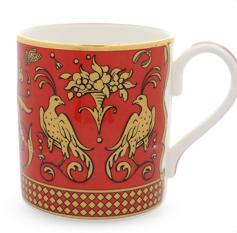 Halcyon Days Jacobean Partridge Mugs, Set of 2