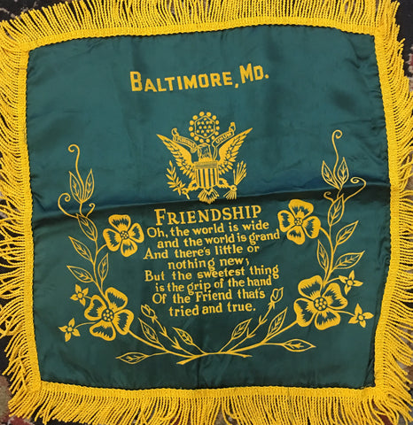 """Friendship"" Pillow Cover, 19 by 19 Inches"