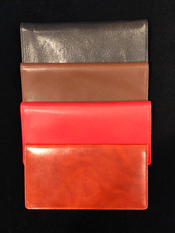 Checkbook Wallet | Smooth Calf Leather | Silk Lining | Made in England | Sterling and Burke