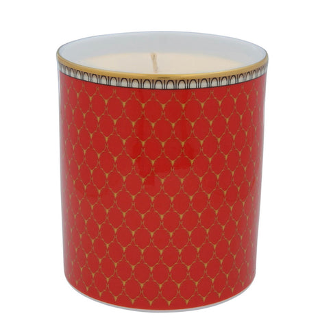 Halcyon Days Antler Trellis Empty Candle Holder in Red