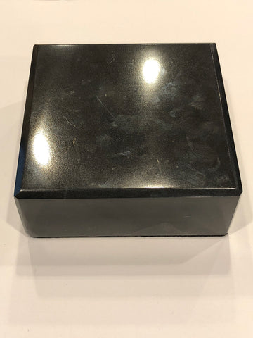 Marble Base | Black | 4 by 4 by 1.5 Inches