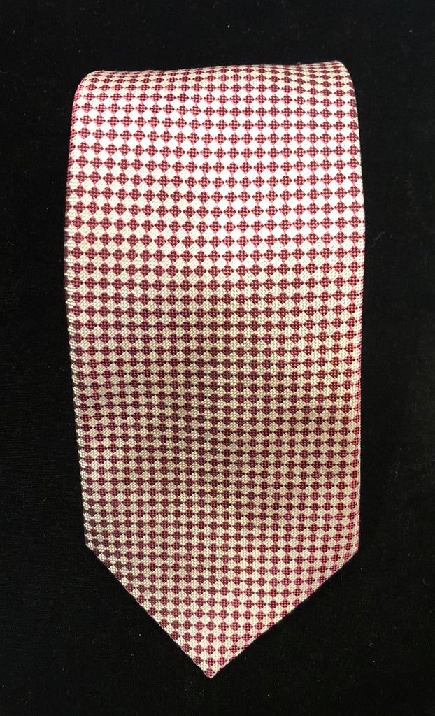 Mini Nattre Woven Tie, Pink | Budd Shirtmakers | Made in England-Necktie-Sterling-and-Burke