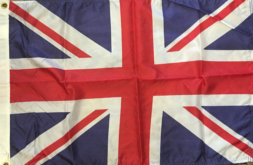 British Flag #4, 35 by 23.5 Inches-Vintage Flag-Sterling-and-Burke