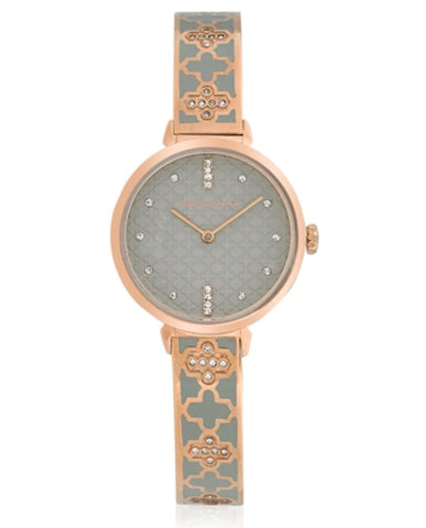 Agama Sparkle Bangle Strap Watch | Grey and Rose Gold | Halcyon Days | Made in England