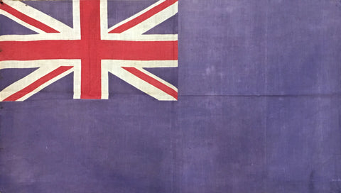 "Vintage Flag | British Flag | 19"" x 33"" Unframed"