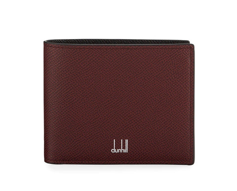 Dunhill Cadogan Bicolor 8CC Billfold in Burgundy and Black