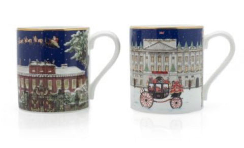 Halcyon Days London Palaces Mugs, Set of 2