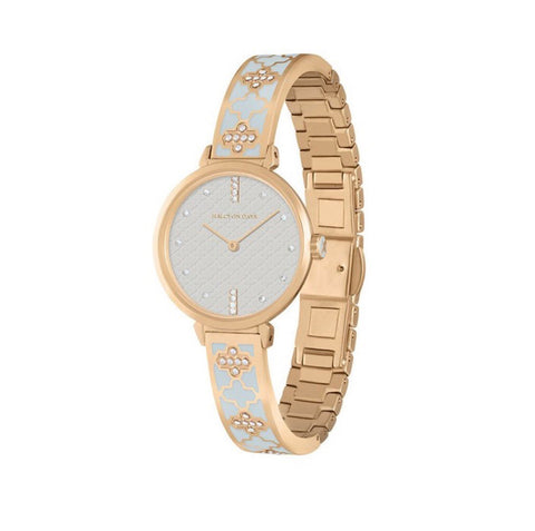 Agama Sparkle Bangle Strap Watch | Cream and Gold | Halcyon Days | Made in England