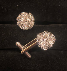 Novelty Cufflinks | Curly Knot Cufflinks | Gold | Rose Gold | Silver | Sterling and Burke | Made in USA-Novelty Cufflinks-Sterling-and-Burke