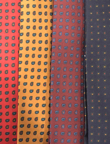 Mini Pine Paisley Madder Tie | Budd Shirtmakers | Made in England