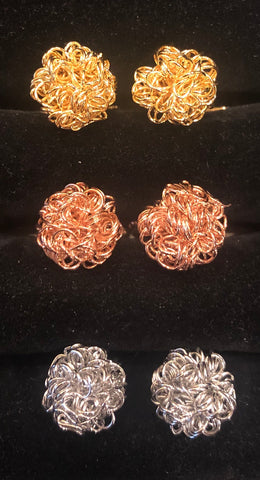 Novelty Cufflinks | Curly Knot Cufflinks | Gold | Rose Gold | Silver | Sterling and Burke | Made in USA