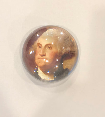 George Washington | Glass Dome Paperweight | Made to Order-Paperweight-Sterling-and-Burke