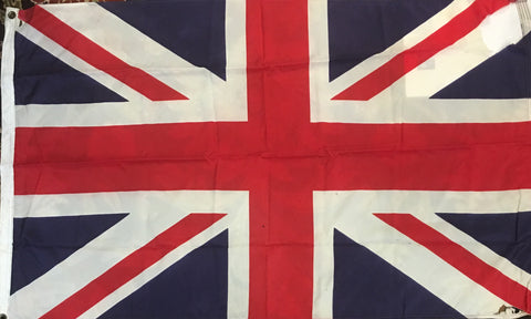 "Vintage Flag | British Flag | 35"" x 58.5""-Vintage Flag-Sterling-and-Burke"