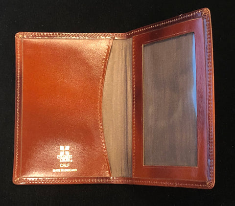 Charing Cross Card Case with Window and Removable Plastic Card Insert | Smooth Calf Leather  | Made in England | Sterling and Burke