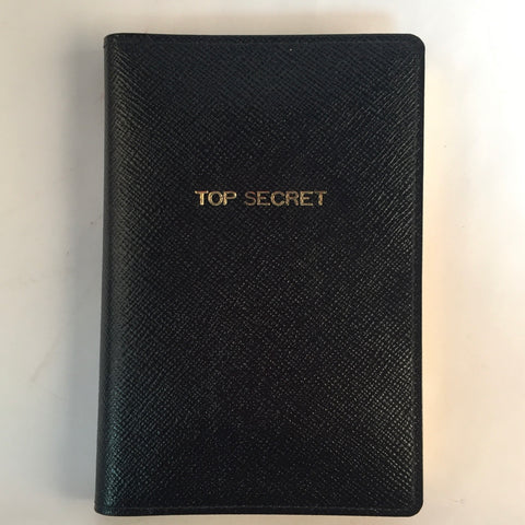 "Leather Cover with Removable Notes | ""Top Secret"" 