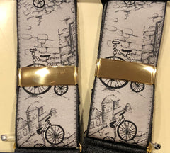 Budd Braces Limited Edition Penny Farthing-Braces / Suspenders-Sterling-and-Burke