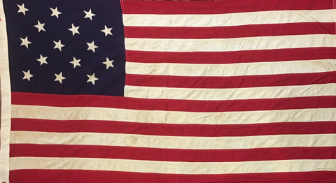 15 Star Flag, 60.5 by 35.5 Inches-Vintage Flag-Sterling-and-Burke